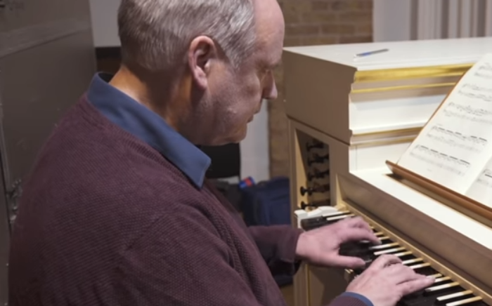 John Butt playing the OAE Handel Organ